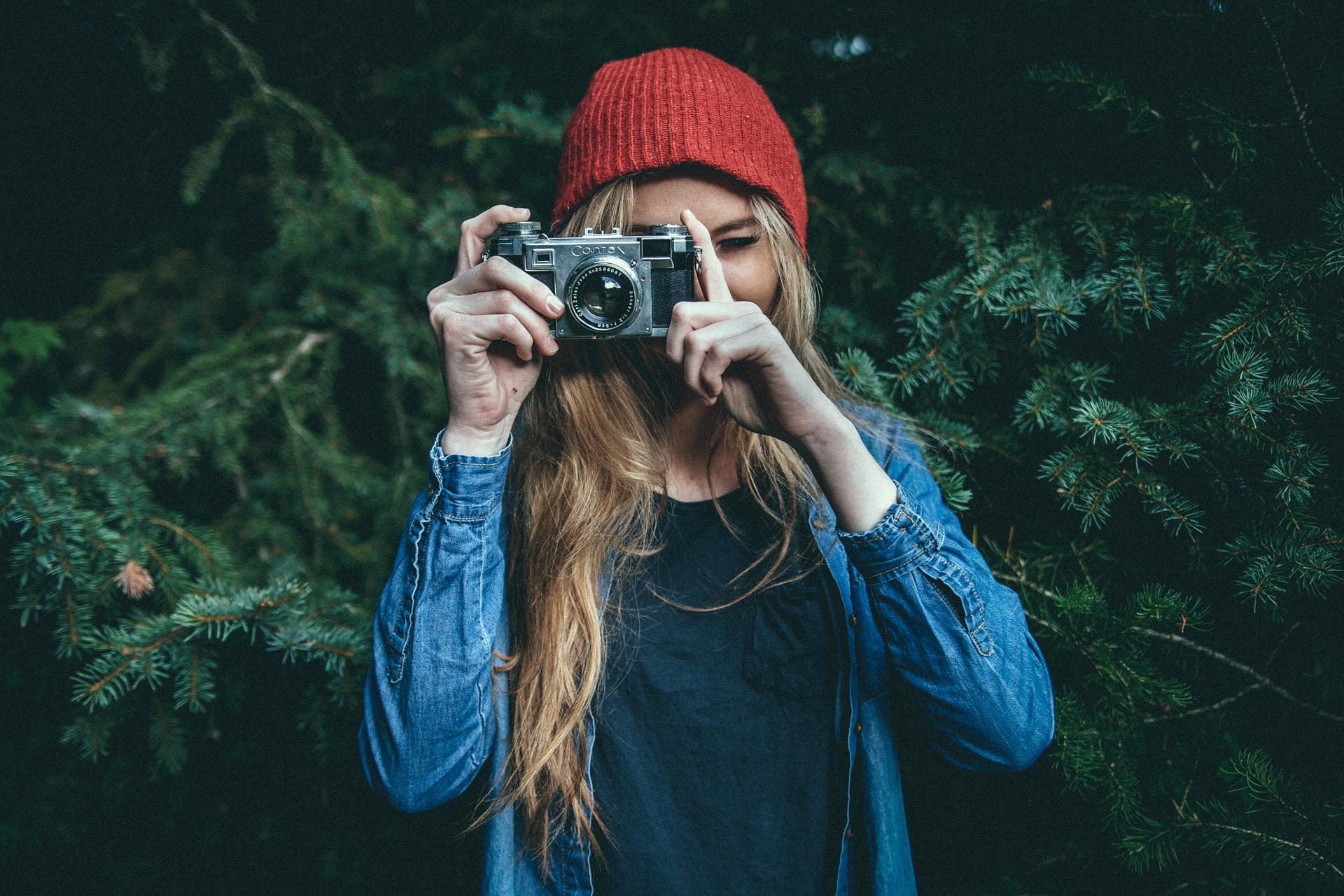 fille photographe